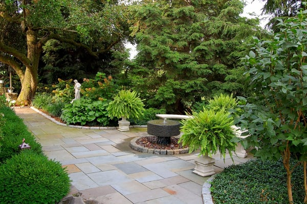 Photo of Fernhill Landscapes - Lancaster, PA, United States. A recessed  seating area - Fernhill Landscapes - Request A Quote - Landscape Architects - 1550