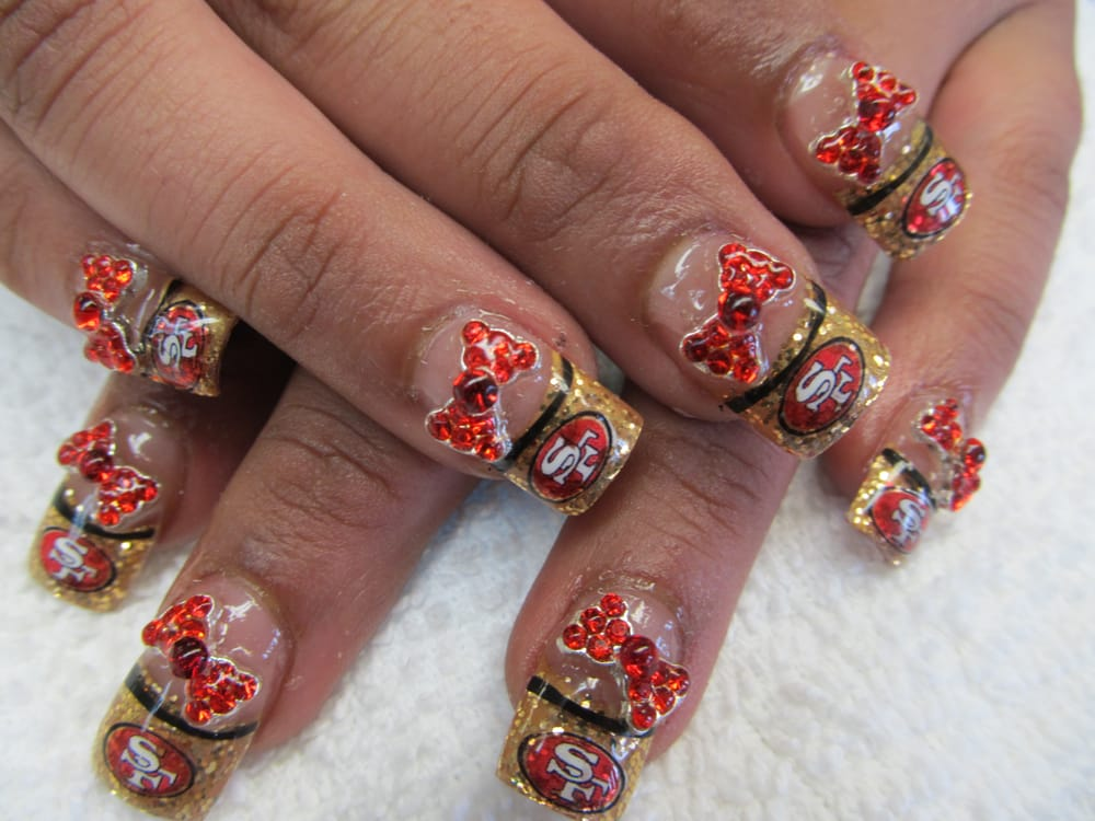 Photo Of Nails Unique Hayward Ca United States 49ers Nail Design
