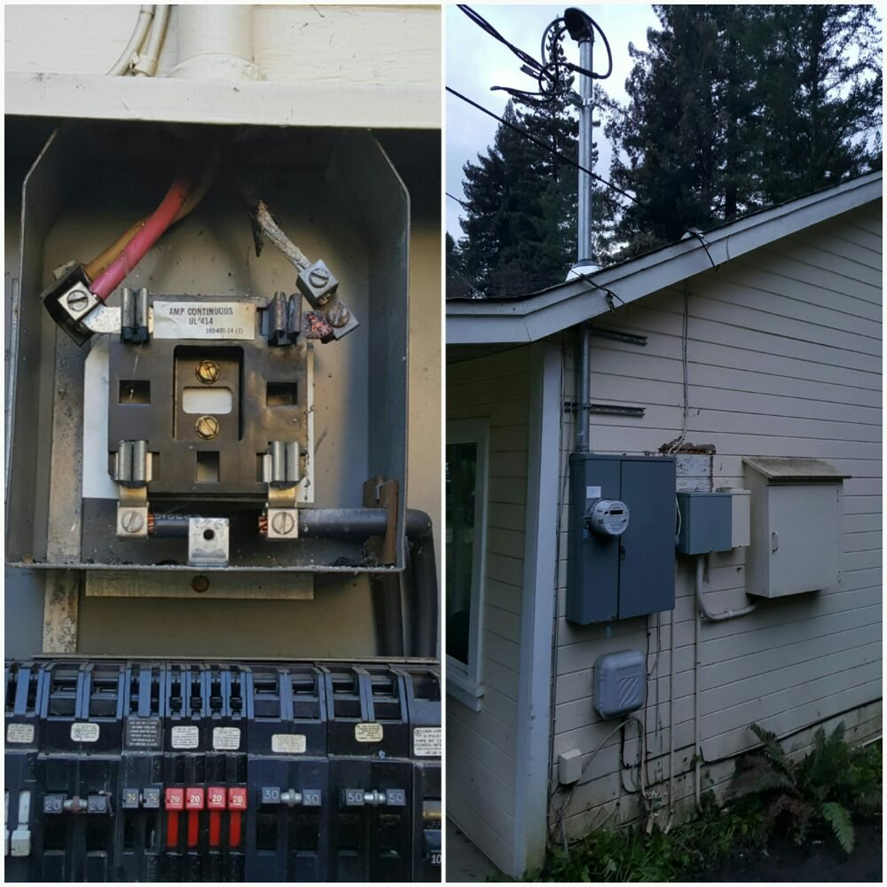 Burned out 100 amp Zinsco upgrade to 200 amp solar ready main ... on