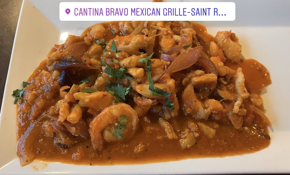 Food from Cantina Bravo Mexican Grille