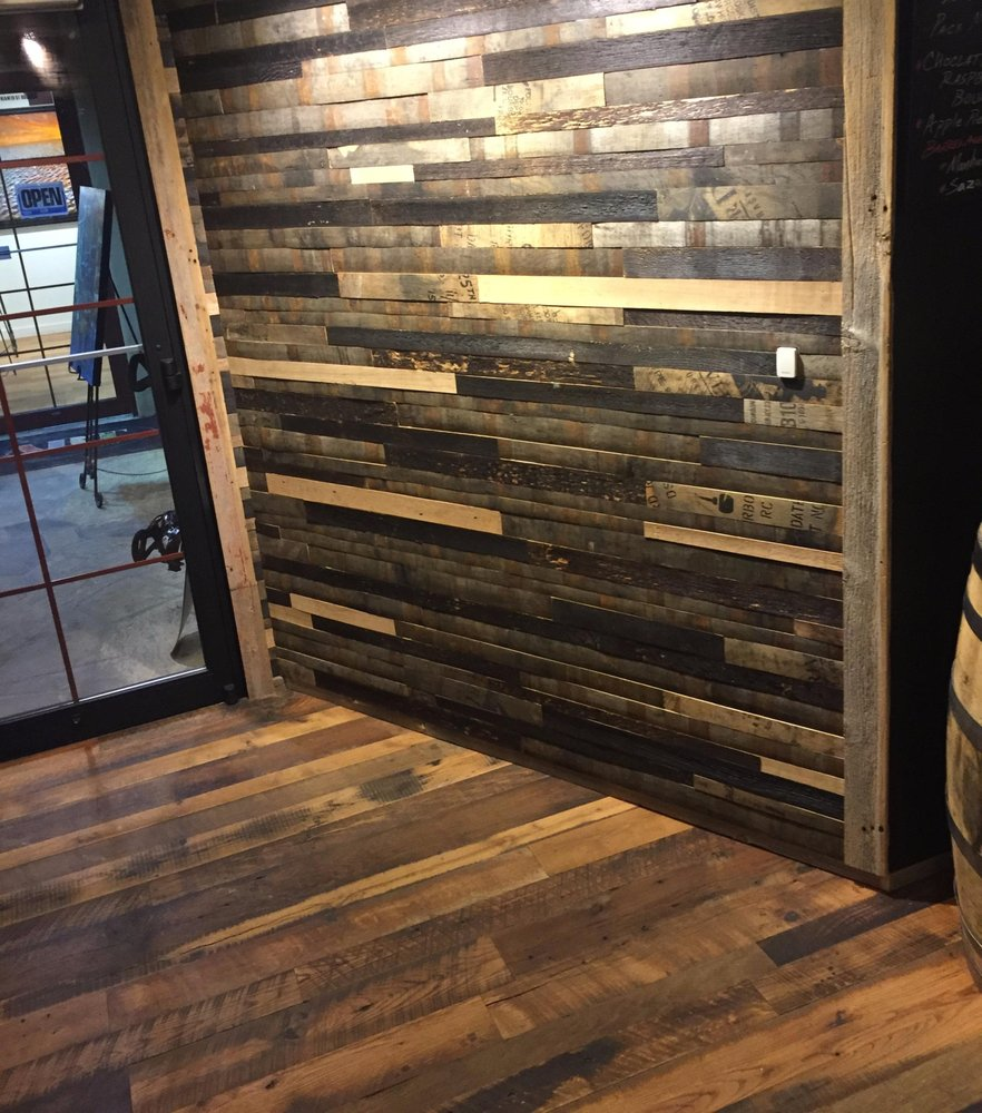 Salvaged Bourbon Barrel Staves Are Unique Materials To Use