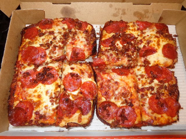 Feb 18, · Little Caesars tries bacon-wrapped crust pizza. Even then, if you want to enjoy that slice of bacon-crusted pizza, you might not want to look at the nutritionals. A single slice weighs in at calories; 23 grams of fat; milligrams of sodium and 40 milligrams of cholesterol.