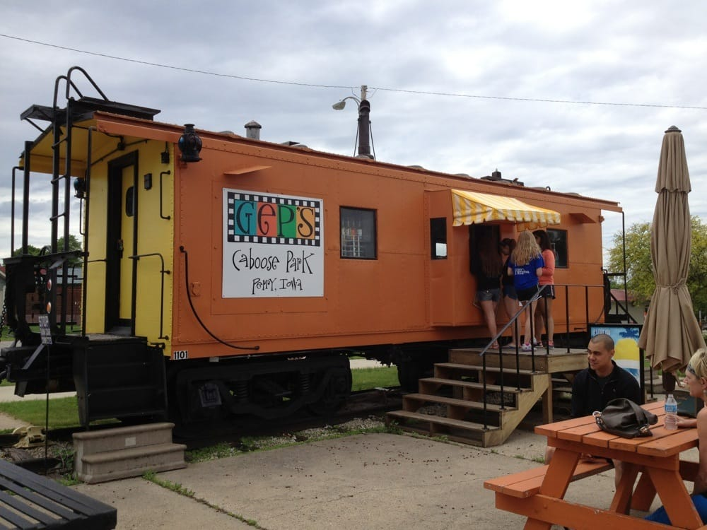 Gep's Caboose Park: 1101 First Ave, Perry, IA