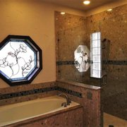 The Combination Of Photo Of DFW Shower Shop   Rowlett, TX, United States.  Gorgeous Marble Shower