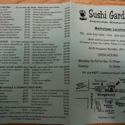 photos for sushi garden japanese restaurant menu yelp. Black Bedroom Furniture Sets. Home Design Ideas
