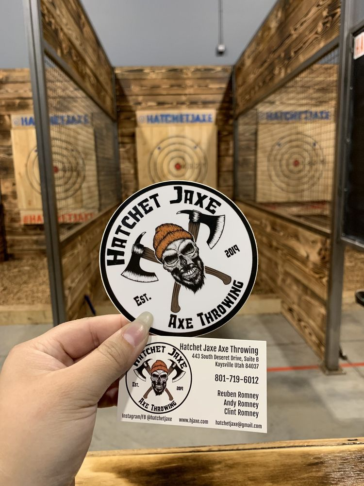 Hatchet Jaxe Axe Throwing: 443 S Deseret Dr, Kaysville, UT
