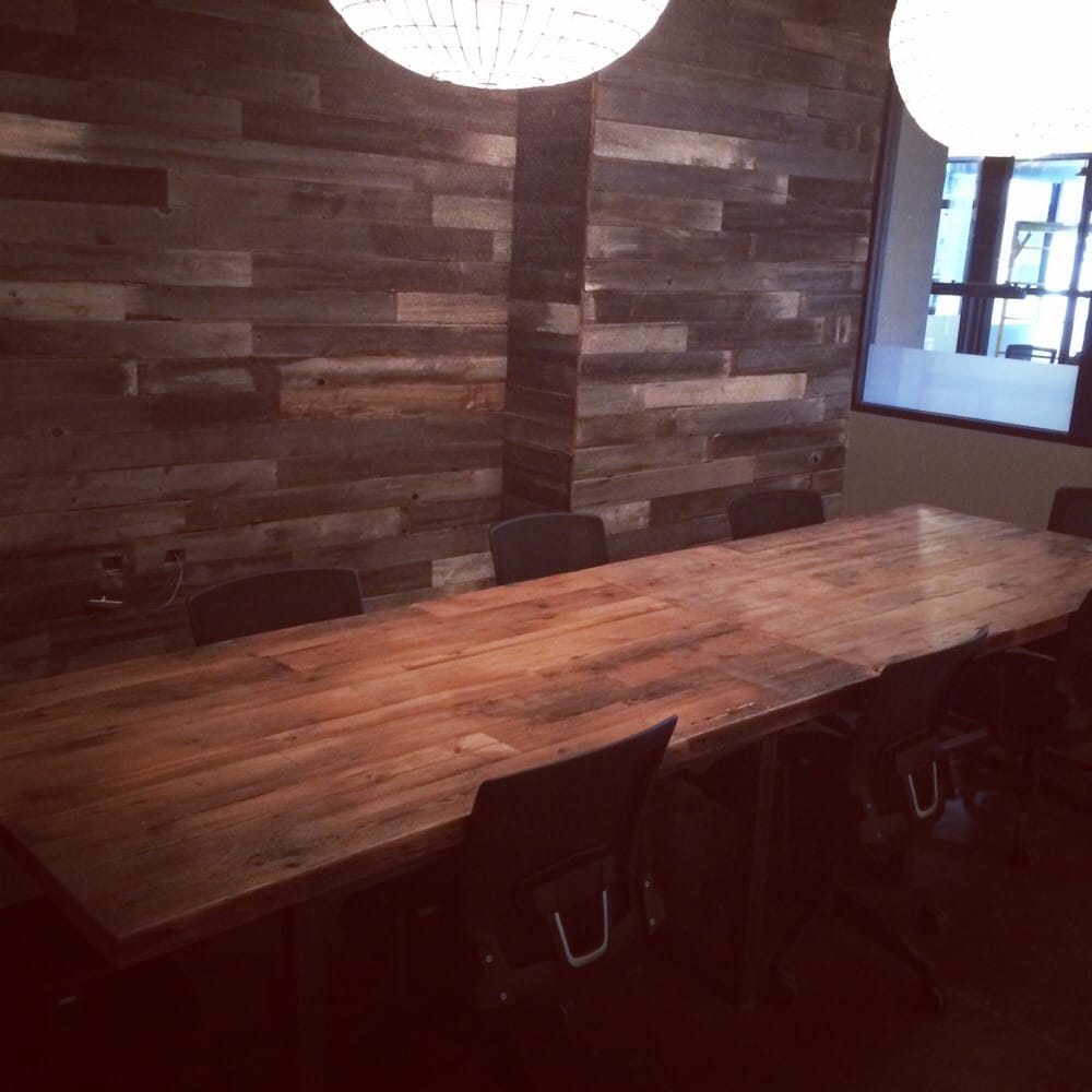 Conference room barnwood back wall 12 foot conference for 12 foot conference room table