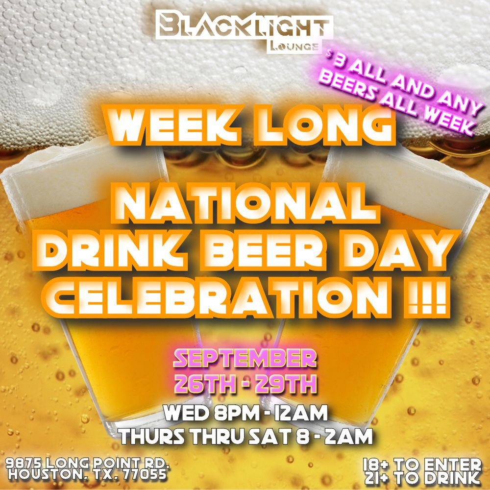 Blacklight Lounge: 9875 Long Point Rd, Houston, TX