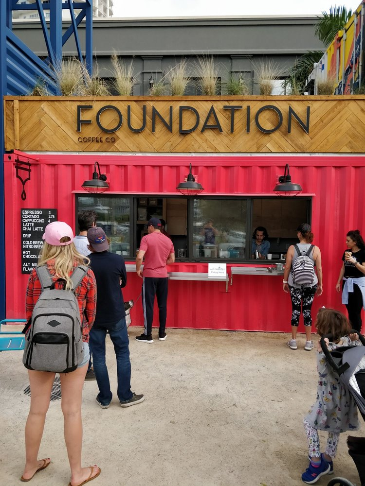 Foundation Coffee @ Sparkman Wharf: 615 Channelside Dr, Tampa, FL