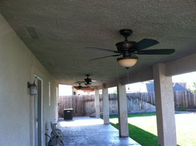 12x40 Custom Patio, 3 ceiling fans, speakers & cable, lighting ...