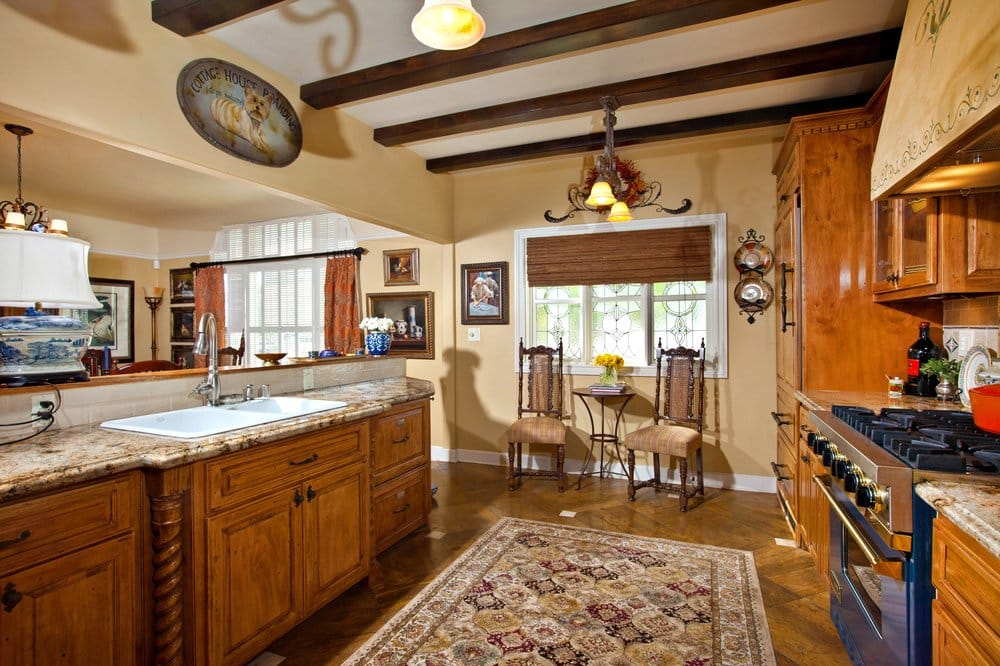 Historic San Diego Home With Custom Cabinets Beamed Ceilings And Marble Floors Yelp