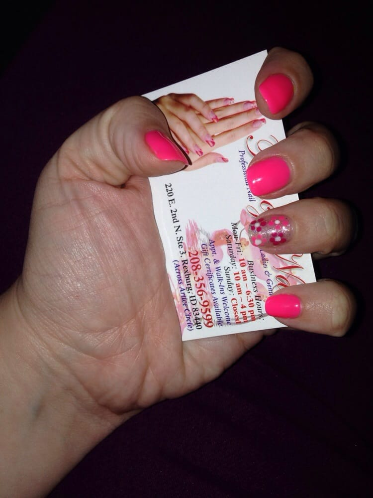 Gel manicure after acrylic removal! They look fabulous for how ...