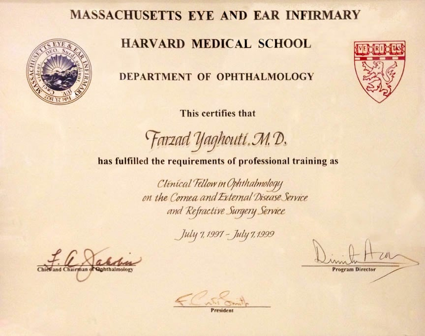 Harvard Medical School Certificate Of Completion Of A 2 Year