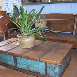 Indian Trunk Coffee Table with Indonesian Daybed - Yelp