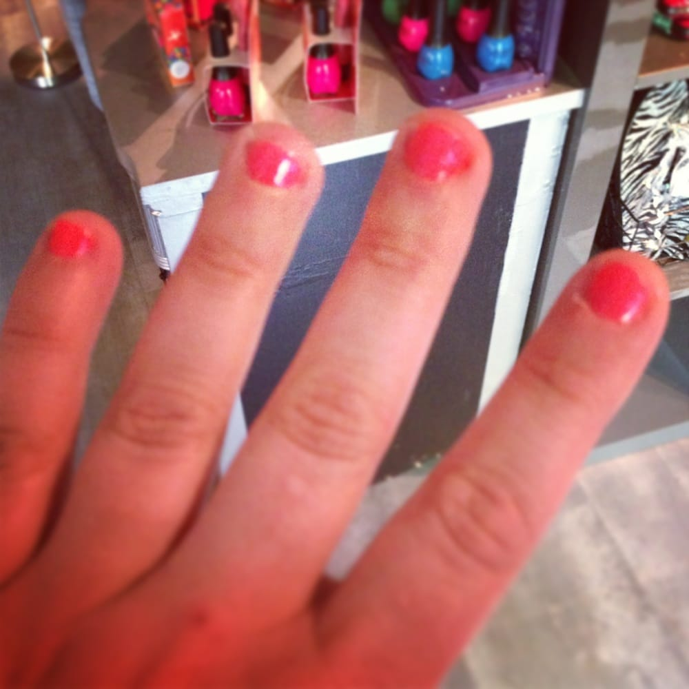 Loved The Coral Color With A Sparkle Coat For My No Chip