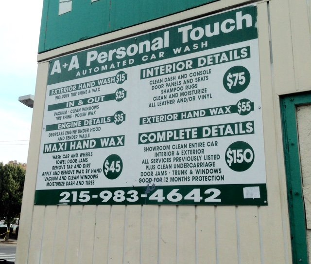 A Plus A Personal Touch Car Wash: 4600 Chestnut St, Philadelphia, PA
