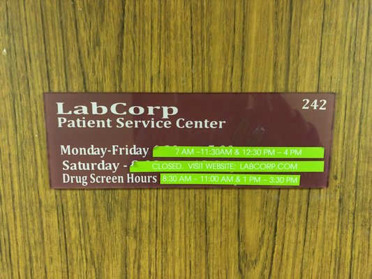 LabCorp 17822 Beach Blvd Huntington Beach, CA Laboratories Clinical