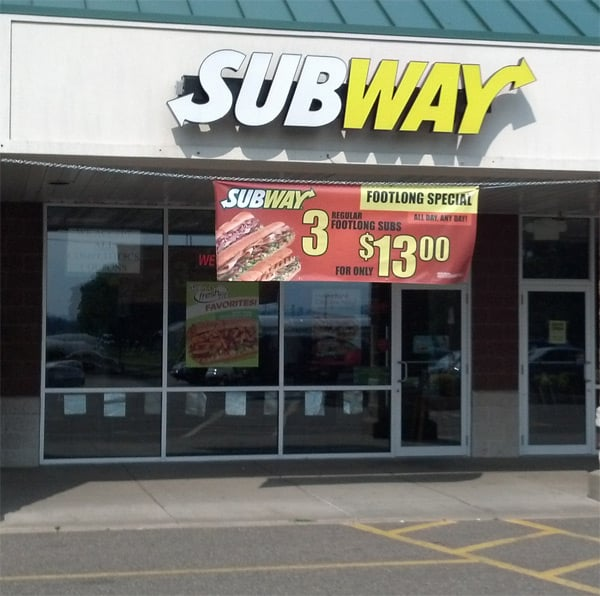 Subway: 1010 Scott Town Plz, Bloomsburg, PA