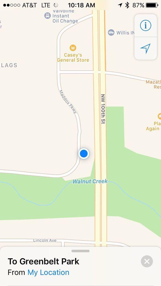 Greenbelt Park: Des Moines Trails, Clive, IA
