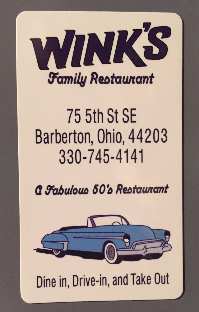 Wink's Drive-In: 75 5th St SE, Barberton, OH