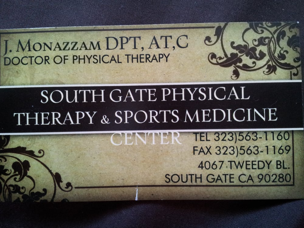 South Gate Physical Therapy & Sports Medicine Center: 4067 Tweedy Blvd, South Gate, CA