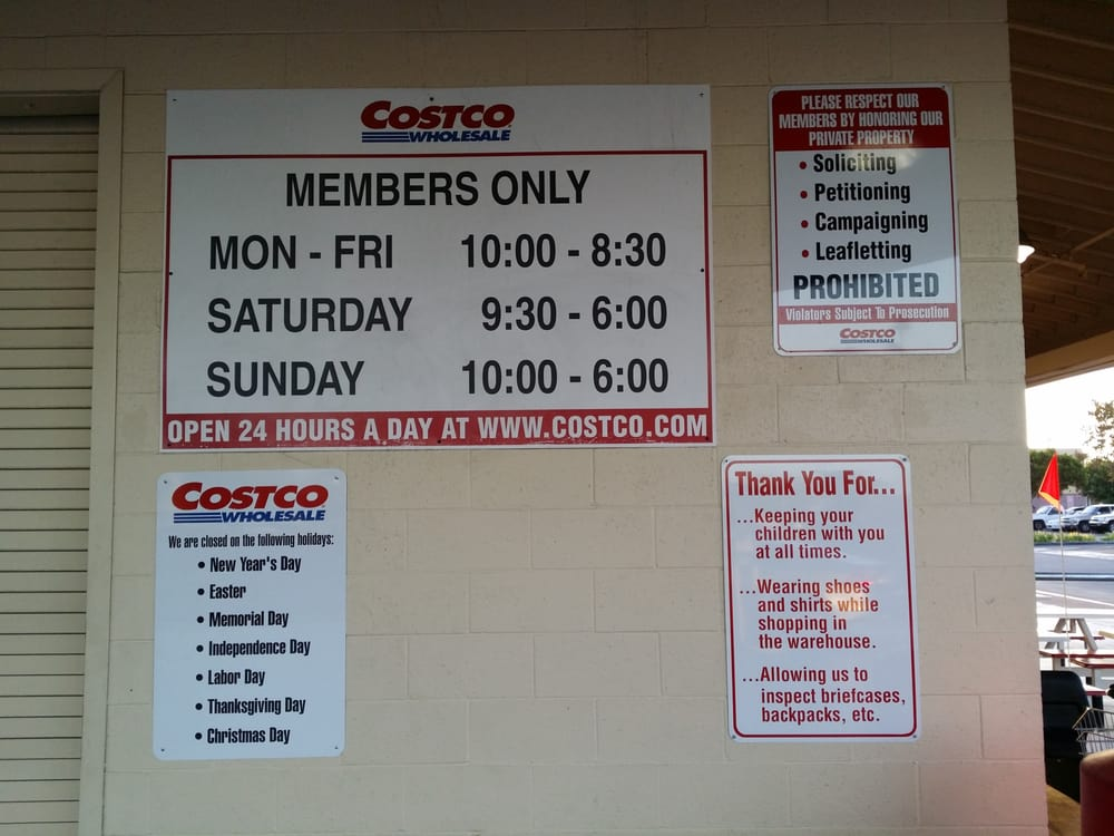 The Costco Food Court hours of operation as well as the Costco ...