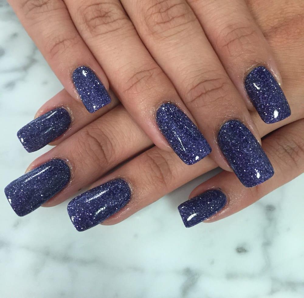Photo Of Asia Nails Pembroke Pines Fl United States Purple Glitter Sns