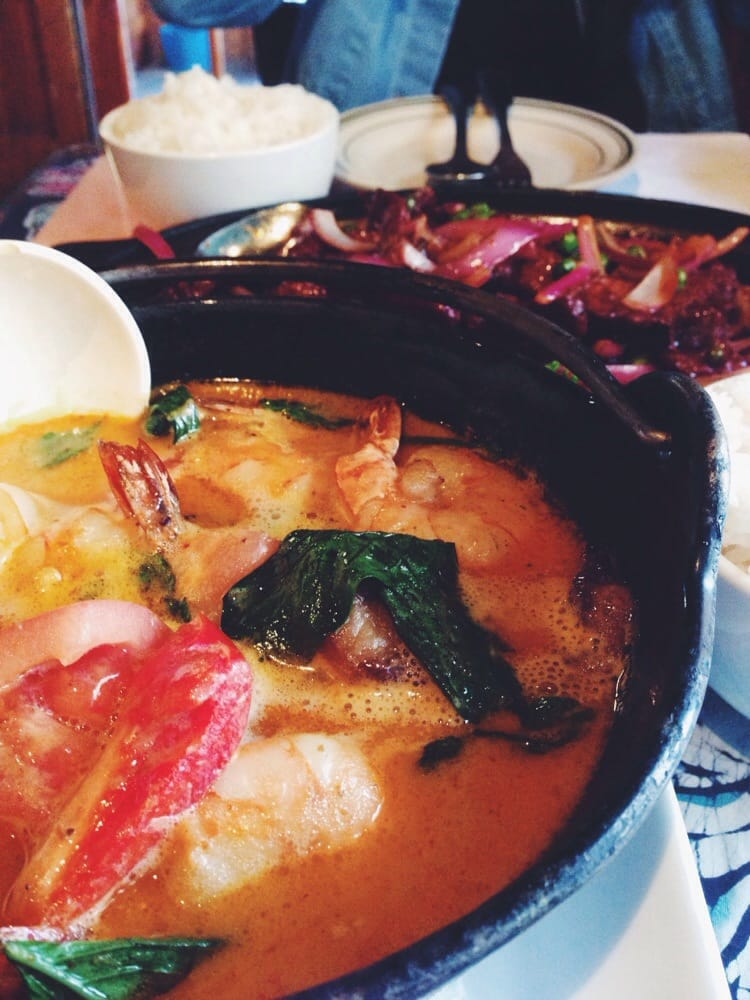 Udang trengganu and sizzling beef the background perfect for Arlene s cuisine