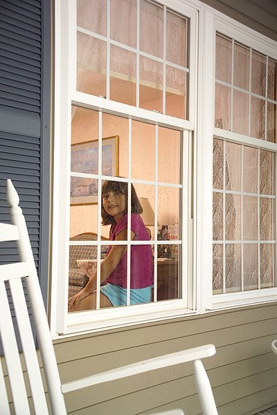 Bottom Hung Windows : Oriel style double hung windows are where the top sash is