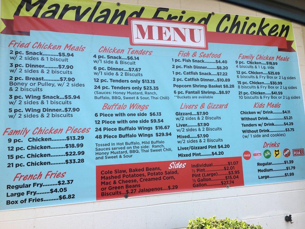 Maryland Fried Chicken: 505 Ossie Davis Pkwy, Waycross, GA