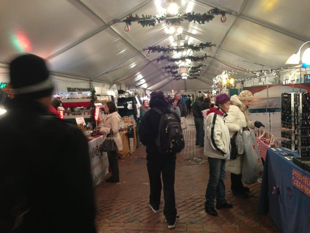 Boston Holiday Market: Summer And Washington St, Boston, MA