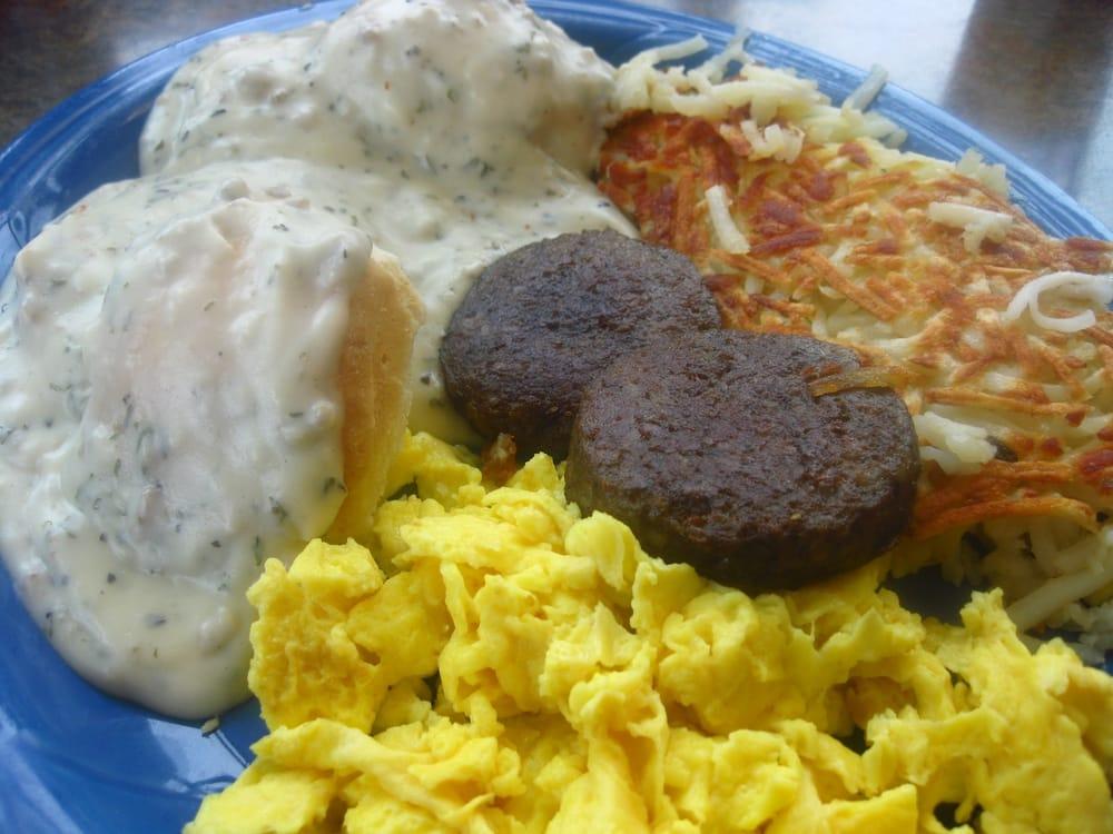 2 Biscuits & Gravy, Scrambled Eggs, Sausage Patties ...