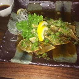 Momoyama Sushi House - Nanuet, NY, United States. Baby tuna appetizer...  Cold scallion steeped like a ceviche...   Amazing!
