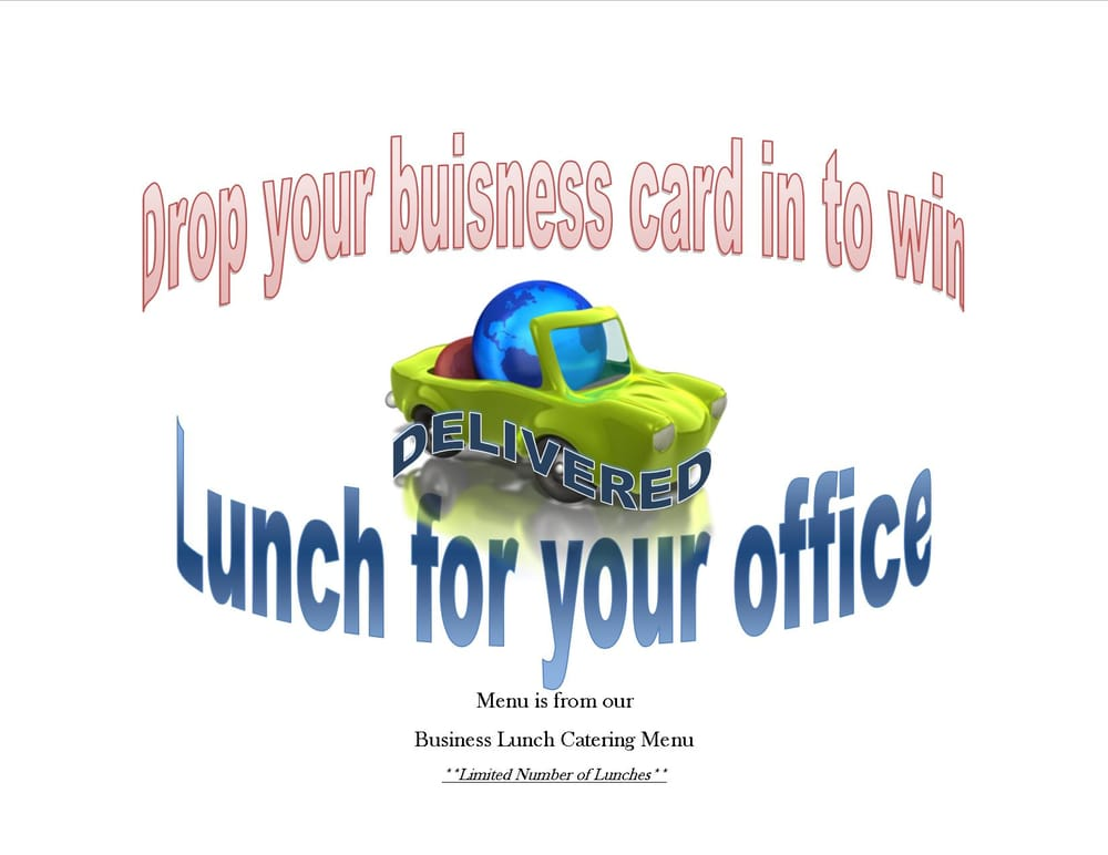 Want to win lunch@theOffice? Drop your business card in the jar to ...