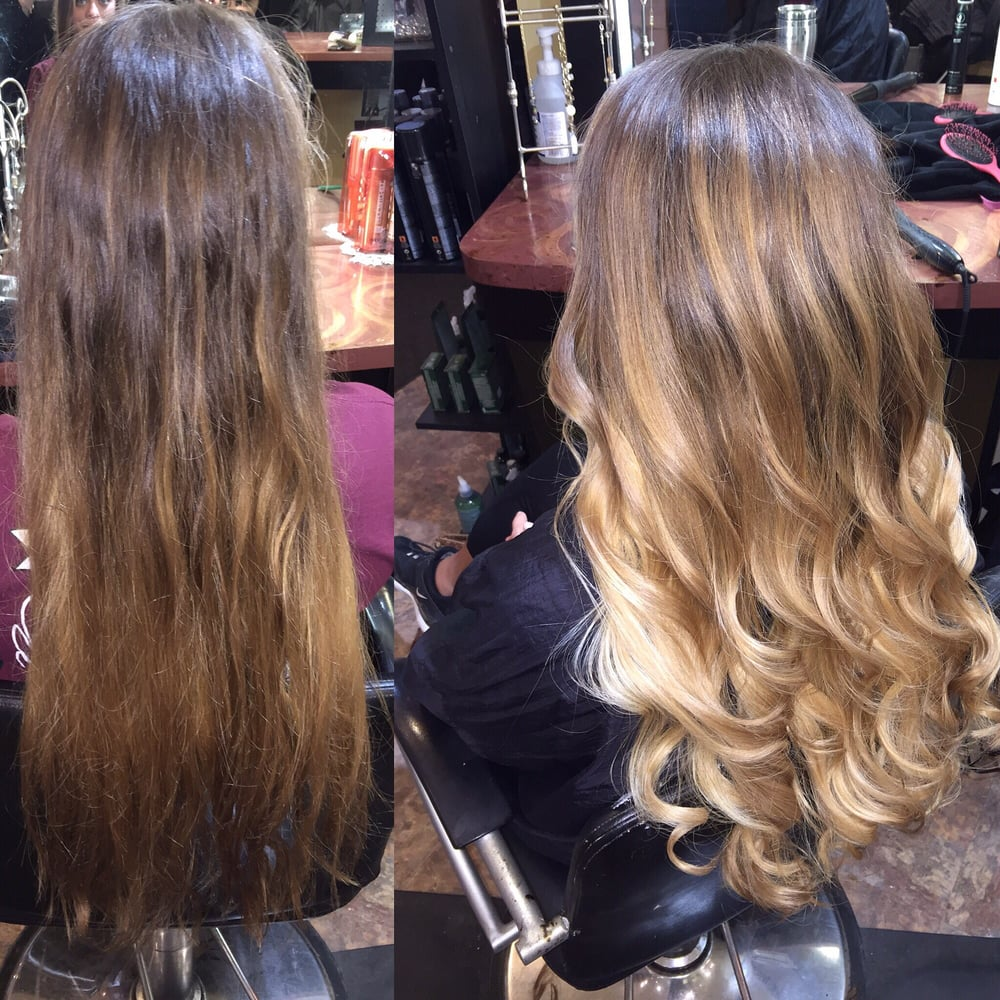 Full balyage cut and style by dakota yelp for Abstract beauty salon