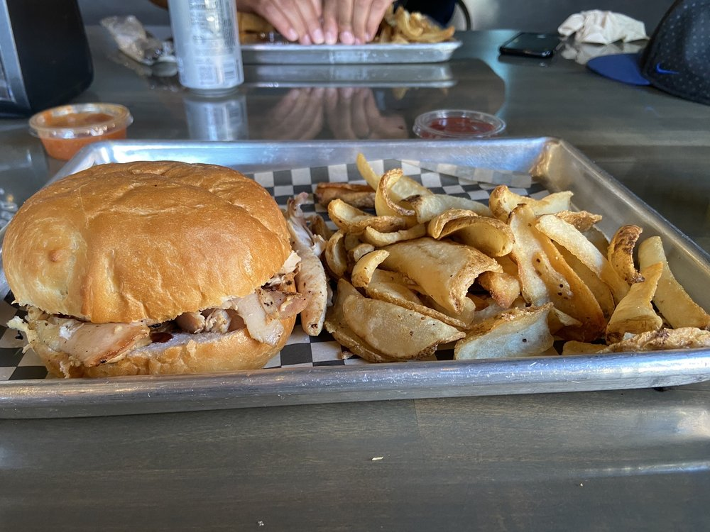 Food from Chop Shop BBQ