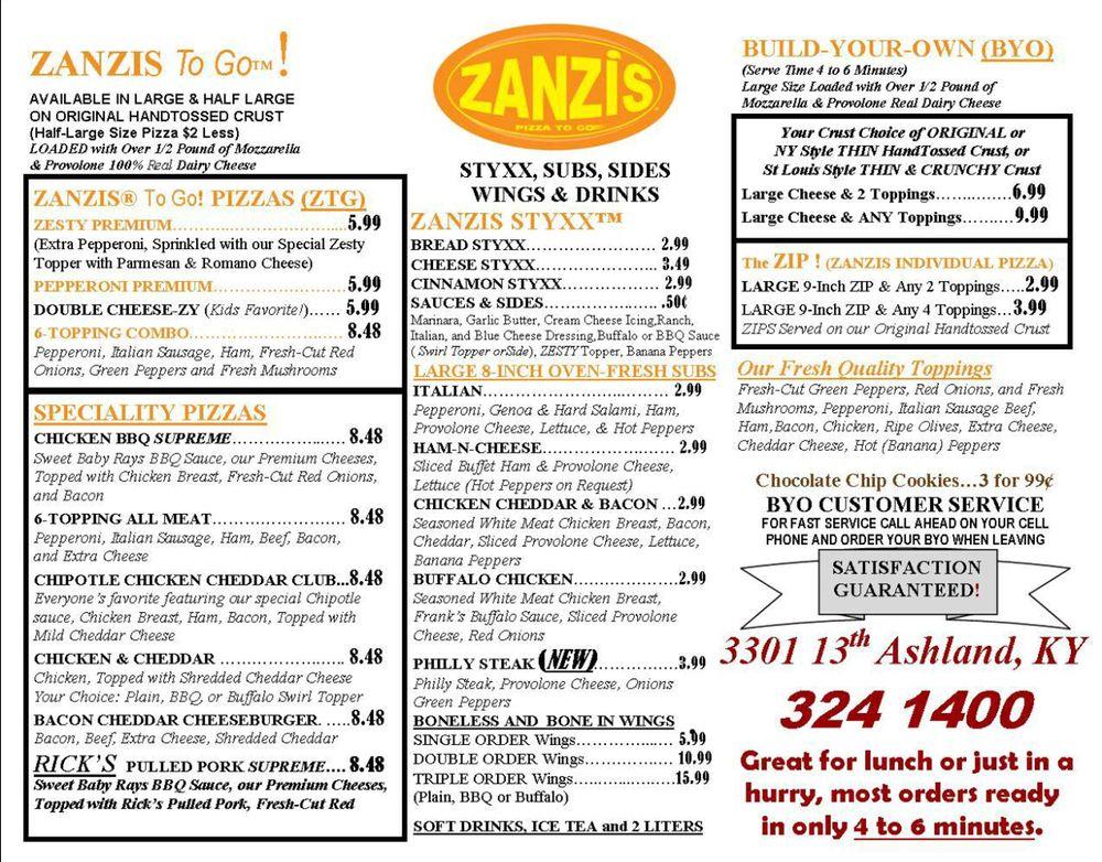 Zanzis Pizza - Ashland: 3301 13th St, Ashland, KY