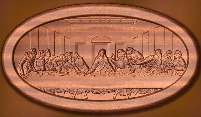 Havenlight last supper olive wood carving by cultural hall