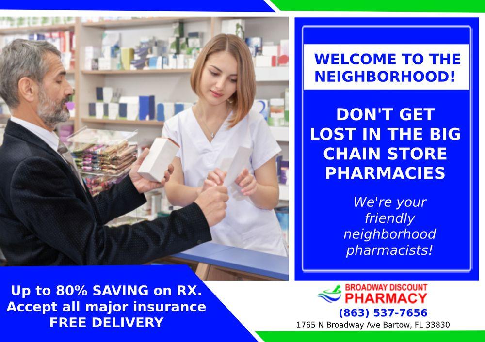 Broadway Discount Pharmacy: 1765 N Broadway Ave, Bartow, FL