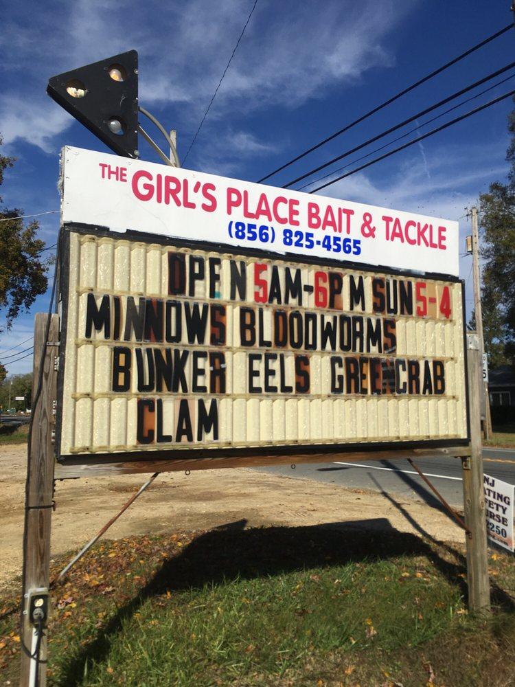 Girls Place Bait & Tackle: 3574 S Delsea Dr, Port Elizabeth, NJ
