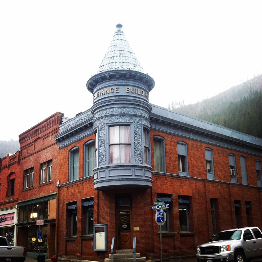 Unique and beautiful Rossi Insurance building in historic Wallace ...