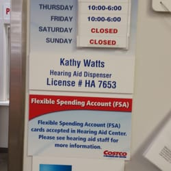Costco hearing aid center hours