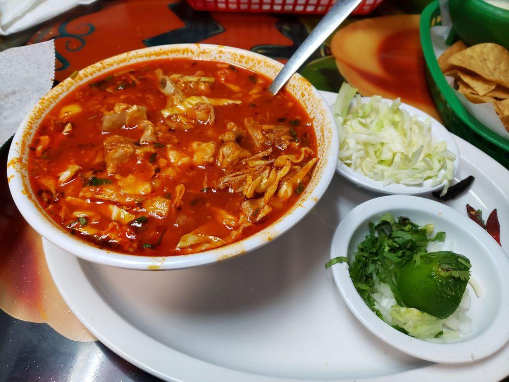 Food from Taqueria Azteca