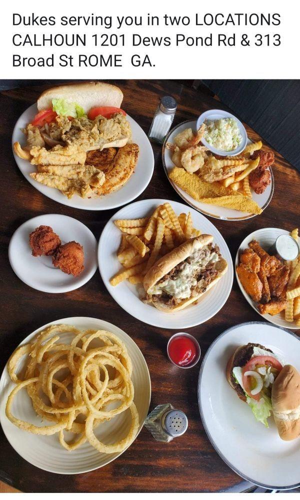 Duke's Wings And Seafood: 1201 Dews Pond Rd, Calhoun, GA