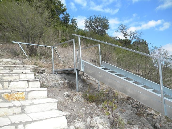 Photo Of Dependable Docks   Leander, TX, United States. Galvanized Stairs  And Platforms