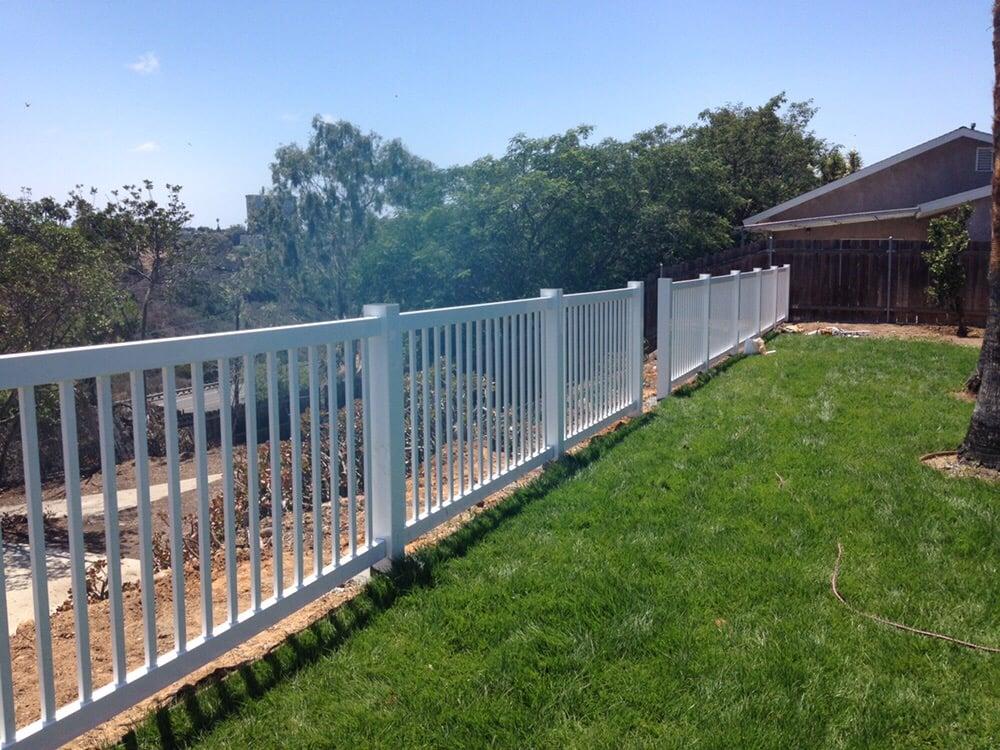 48 Inch Tall White Vinyl Picket Perimeter Fence Yelp