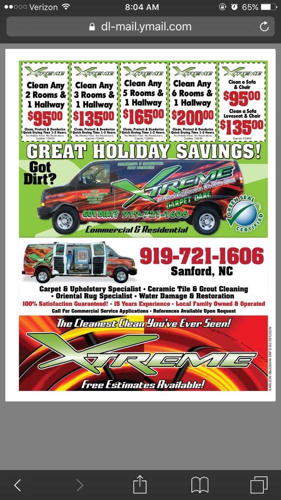 Xtreme Carpet Care: 3352 Blackstone Rd, Sanford, NC