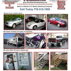 atlanta mobile detailing auto detailing marietta ga phone number yelp. Black Bedroom Furniture Sets. Home Design Ideas