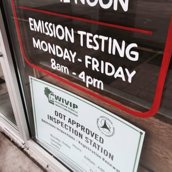 Emission Test Kenosha >> You Can Get The Wisconsin State Mandatory Emission Testing