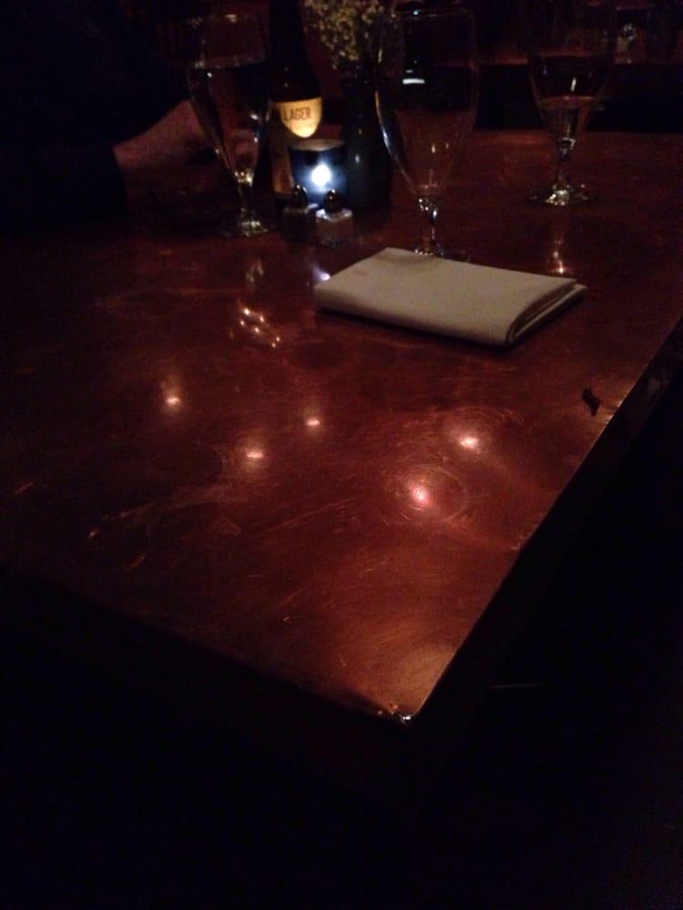 Unique copper table yelp for Table 52 roanoke va